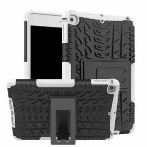 TPU Shockproof Heavy Duty Hybrid Rubber Hard Kickstand Case Cover for Apple iPad