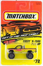 Matchbox Mb 72 Chevy 1500 Pick-up Truck New On Card 1996