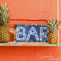 LIGHT UP BAR SIGN - Wedding/Party Decoration - Neon Style LEDs - Battery Powered