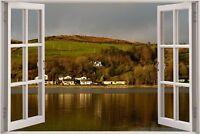 Cheap 3D Window view Kaimees bay Bute Wall Sticker Art Decal Wallpaper 1168