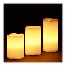LED Kerzen 3er Set Echtwachs elektrische Kerzen Flackerkerzen Adventskerzen hell