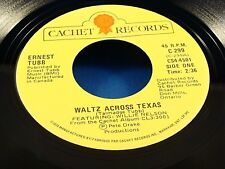 ERNEST TUBB (w/WILLIE NELSON) - Waltz Across Texas / Jealous Loving Heart N/MINT