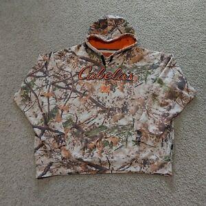 Cabelas Zonz Woodland Camo Pullover Hoodie XXL 2XL Hunting Fishing Hiking