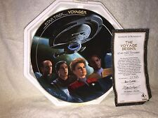 Star Trek Voyager the Episodes the Voyage Begins Collector Plate