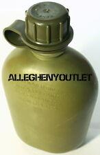 USGI US Army Military 1 QUART RIGID HARD PLASTIC 1QT CANTEEN OD VGC w/ NEW CAP