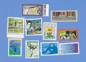 BRASILIEN  2001  - postfrisch**MNH - kleines Lot Einzelmarken (10 Werte)