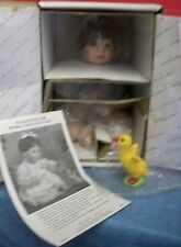 "Vintage Danbury Mint Porcelain Stacy Doll by Judy Belle With Yellow Duck 16""T"
