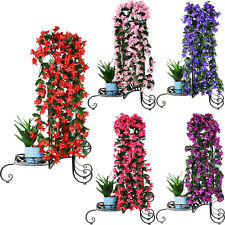 Artifical Violet Rose Bunch Hanging Garland Flower Vine Home Party Wedding Decor