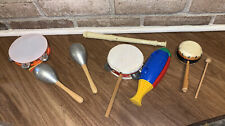 Lot Of Vintage Maracas - Suzuki E Plastic Flute & Other Musical Hand Instruments