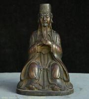"""10 """"Ancien Palais de la dynastie de Bronze de Chine Statue"""