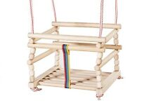 Wooden Baby Swing Kids Indoor Door Outdoor Chair Rope Garden Patio Bouncer /1L