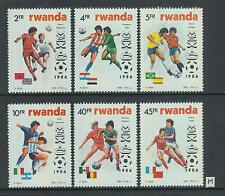 XG-Z683 RWANDA - Football, 1986 Mexico '86 World Cup, Flags MNH Set