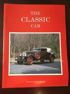 The Classic Car Magazine (Volume XXXI, Number 2 - June 1983)