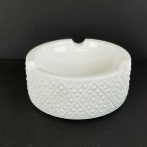 Mid Century Modern Ashtray White Porcelain H&C Heinrich Selb Germany Catchall