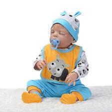 """22""""Realistic Full Body Silicone bebe Reborn Baby Doll Soft Vinyl Newborn Boy toy"""