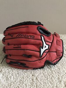 "Mizuno Baseball Glove 10.5"" RHT  Power Close GPP 1050Y1MCRD (Red and Black)"
