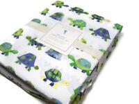 Pottery Barn Kids Organic Cotton Turtles Turtle Shell Full Sheet Set New