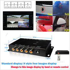 4 Way 4 View Image Split Car Video Switch Parking Camera Screen Control Box