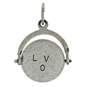Sterling Silver I Love You Spinner Charm - 925 Keepsake Pendant