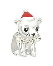 CHRISTMAS Authentic Chamilia BEAR HUG  Red Enamel & Crystal Swarovski 2025-1234