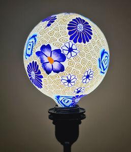 Artistic Printed Decorative LED Bulbs E27, Floral Art Gamma Blue White Hampton