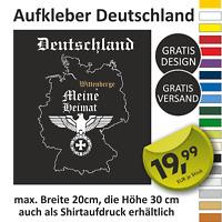 Deutschland Meine Heimat Reichsadler Eisernes Kreuz Heckscheiben Auto Aufkleber