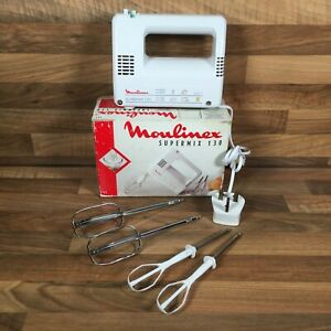 Moulinex Supermix 130 Compact 765 Electric Hand Mixer 4 Whisks Boxed