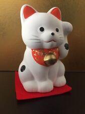 Maneki Neko Bianco - Gatto Portafortuna Giapponese