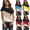 Women Summer Short Sleeve Blouse T Shirt Ladies Loose Casual Chiffon Tunic Tops