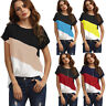 Womens Summer Short Sleeve Blouse T Shirt Ladies Loose Casual Chiffon Tunic Tops