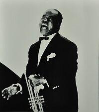 Chargesheimer Original 1961 30x40 Louis Armstrong Jazz Portrait Köln Concert B&W