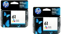 2pk HP #61 Color Ink Cartridge 61 CH562WN NEW GENUINE