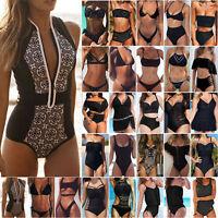 Women Padded Bikini Set Monokini One Piece Swimsuit Swimwear Beach Bathing Suit