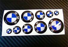 SUPER KIT 1O ADESIVI BMW RESINATI 3D  DA 1 A 3 CM STICKERS ADESIVO LOGO COD10