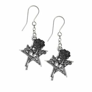 Alchemy Ruah Vered Pentagram Rose Gothic Earrings
