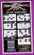 Los Angeles Kings magnet schedule 1997/98 sponsored by Fox Sports West magnetic