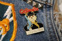 NOS vtg 80s 1988 licensed CINDERELLA enamel pin GLAM METAL *for shirt jacket hat