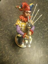 The Summit Collection Jester with Bagpipes painted Figurine Retired 2008 Vhtf