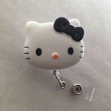 "Hello Kitty 45mm / 1.9"" Retractable Reel ID Badge Holder_black Bow 1pc"