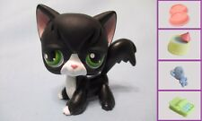LITTLEST PET SHOP  #55 BLACK WHITE TUXEDO ANGORA CAT +1 FREE ACCESS 100% Authen