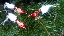 Christbaumschmuck  Vögel rot 3er Weihnachten Baumschmuck Adventszeit Figuren