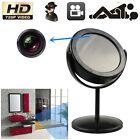 Mini Mirror Motion Detection Spy Video Camera Hidden DVR Cam Camcorder Black DB