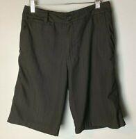O'Neill Men's Golf Shorts Size 30 Black Pockets Subtle Stripes