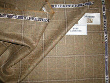 100%PURE CASHMERE JACKETING FABRIC MADE IN SCOTLAND By JOHNSTONS OF ELGIN -2.0 m