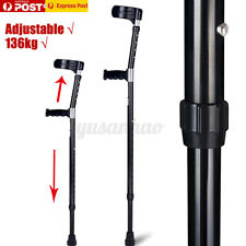 1 Piece Adjustable Lightweight Soft Underarm Forearm Elbow Crutches Walking  !AU