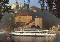 Alte Postkarte - Passau - Donau mit Veste Oberhaus und Niederhaus