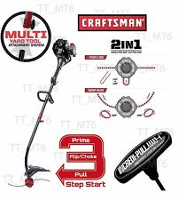 Craftsman 25cc 2-Cycle Curved Shaft Gas WeedWacker Attachment Bump Feed Dual