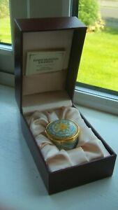 "Vintage Staffordshire Enamel "" Chelsea Bonbonnieres "" H063 OMAN 2009 Trinket Box"