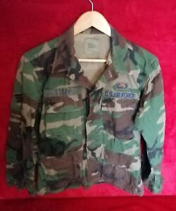 U.S. Air Force Woodland Camouflage Combat Warm Weather Jacket Size Small