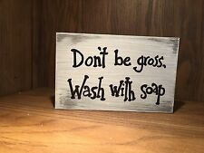 bathroom rustic wood sign, farmhouse style, home decor, toilet sign, wash hands